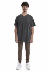 Camiseta Korova Regular Basica Cinza Estonado