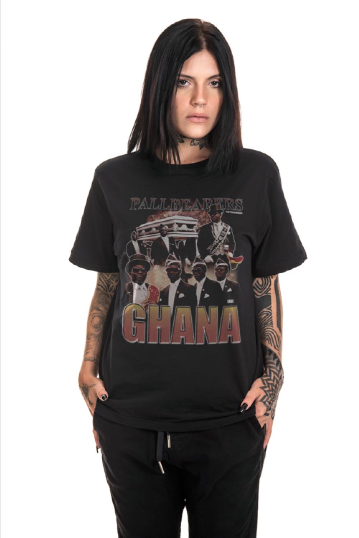 Camiseta Korova Pallbearers Ghana Preta