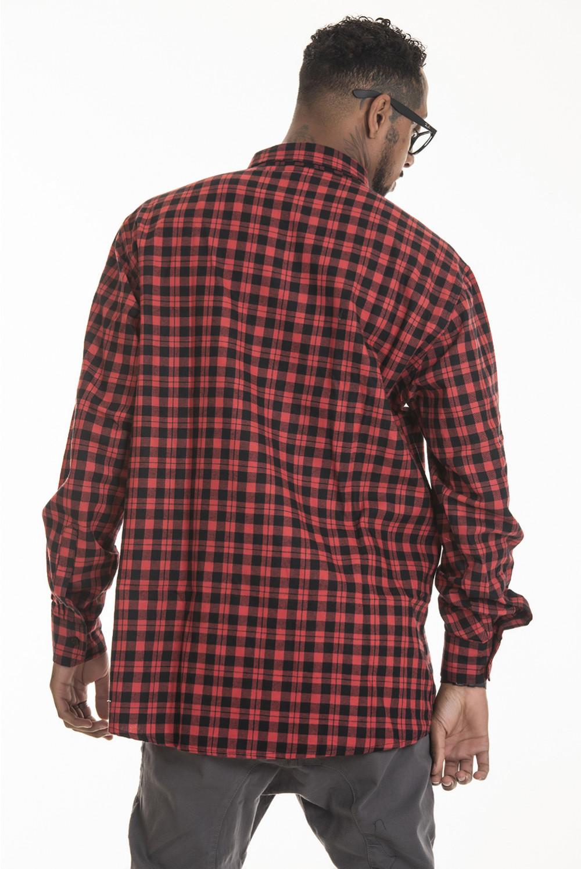 Camisa Flanela Korova Xadrez Vermelho/Preto