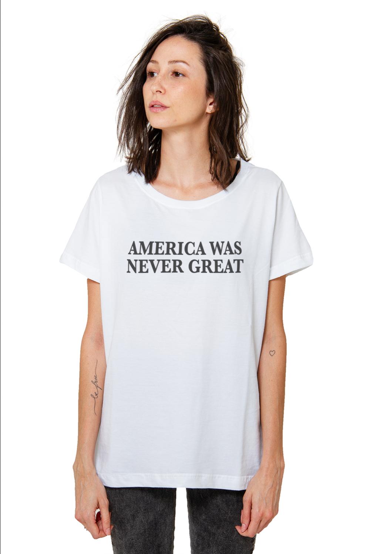 Camiseta Korova America Was Never Great Branca