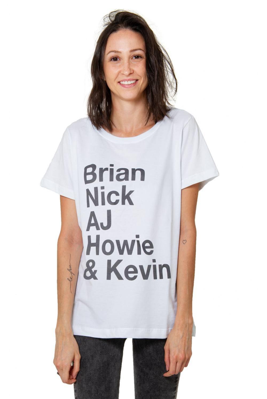 Camiseta Korova Backstreet Boys Roll Call Branca