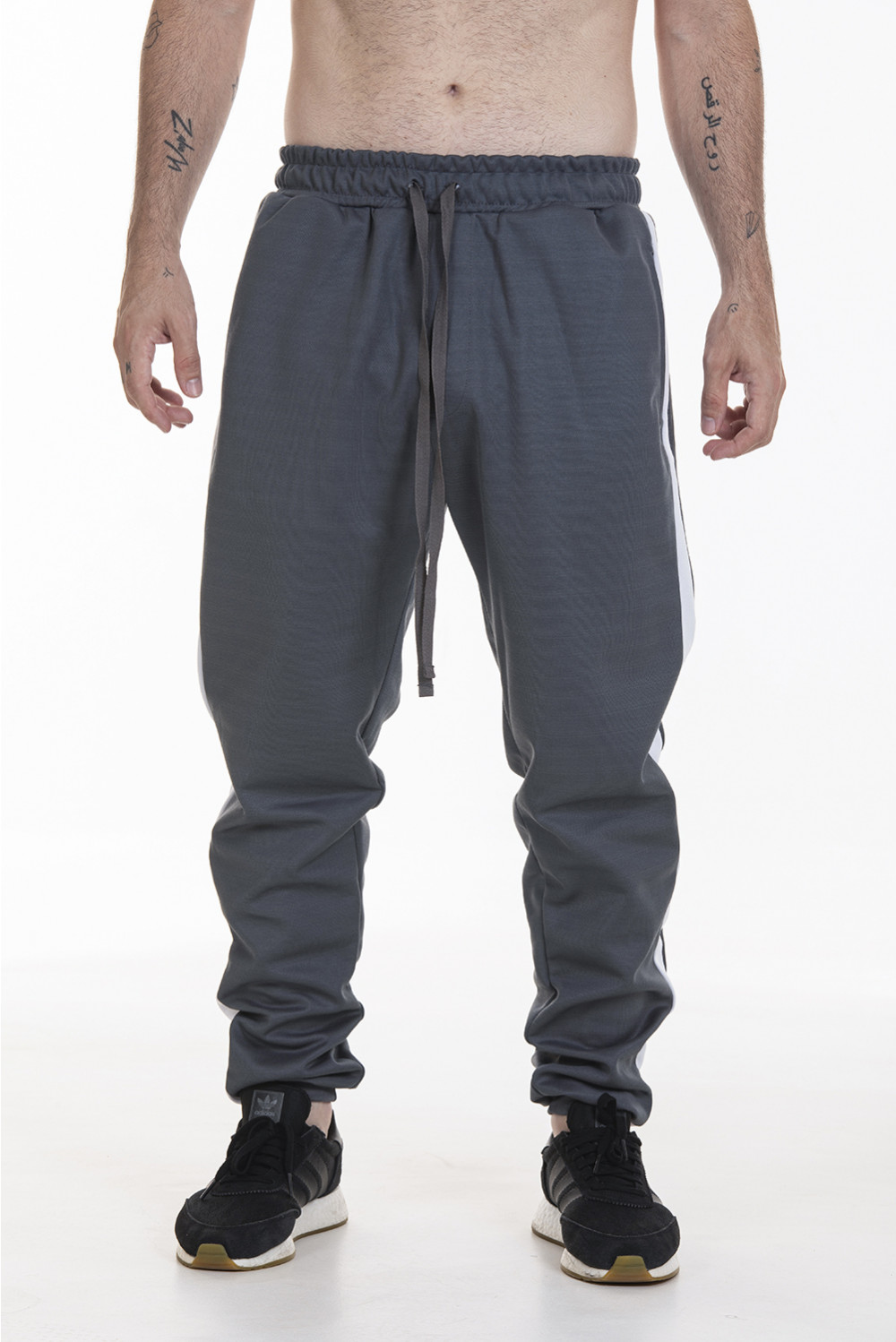 Pack 2 Calças Track Pants Side Stripe Korova Trackerz Cinza Chumbo/Bordô