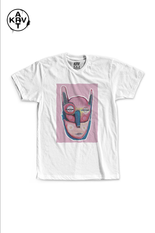 Camiseta Korova x Gabriel Crust VULTO ROSA
