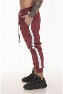 Calça Track Pants Side Stripe Korova Trackerz Bordô e Branca
