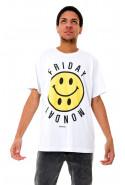 Camiseta (regular) Korova Friday Monday Branca