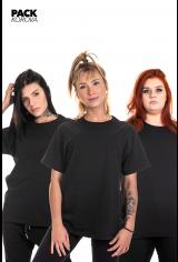 Pack de 3 T-shirts (slim) Korova Básicas Pretas
