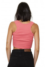 Top Cropped Canelado Korova Infrared