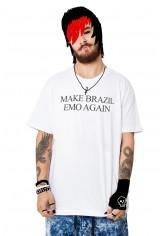 Camiseta Korova Make Brazil Emo Again Branca