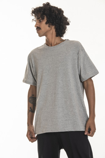 Camiseta Korova Regular Basica Cinza Mescla Claro