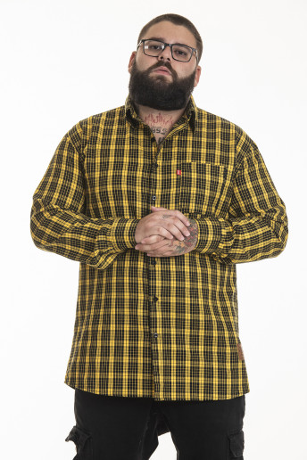 Camisa Flanela Korova Xadrez Amarelo/Preto
