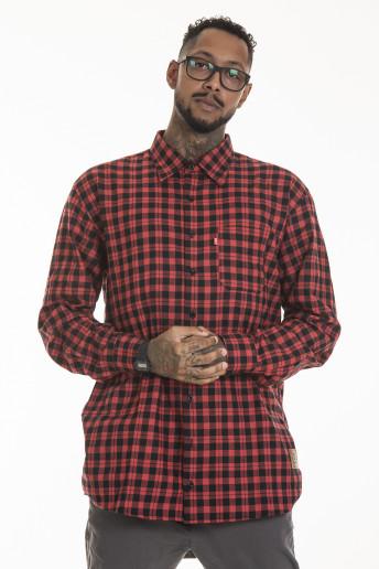 Pack de 2 Camisas Flanelas Korova Xadrez Vermelho/Cinza
