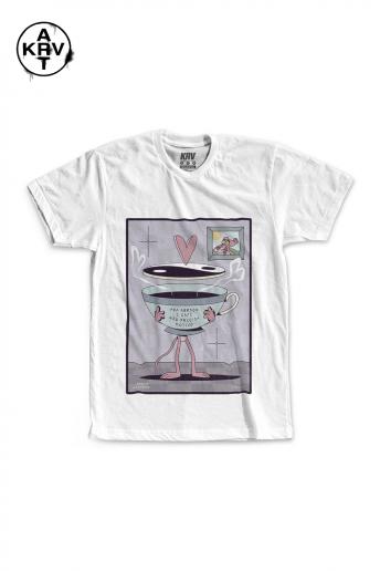 Camiseta Korova x Preto Lauffer CAFÉ POESIA