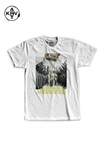 Camiseta Korova x Bruna LEITE MOÇA COLAGEM