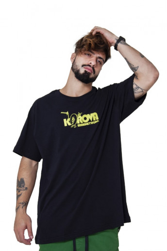 Camiseta Korova Fun Service Cable TV Preta