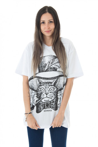 Camiseta Korova Ink Cat Branca