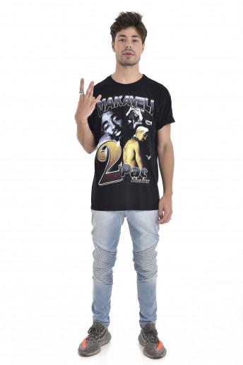 Camiseta Korova Rap 90s Tupac Preta