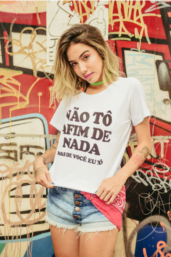 Camiseta Korova Não Tô Afim de (Quase) Nada