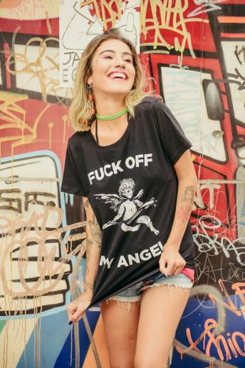 Camiseta Korova Fuck Off My Angel