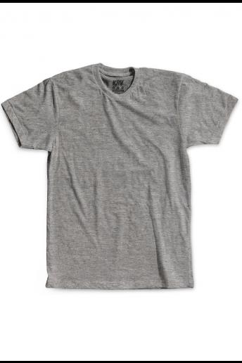 Camiseta (Regular) Korova Kustom Cinza Mescla Claro