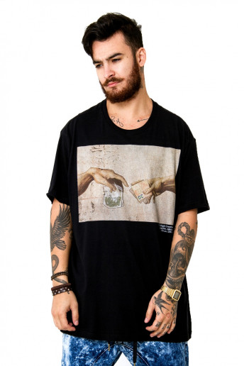 Camiseta (regular) High Creation Preta