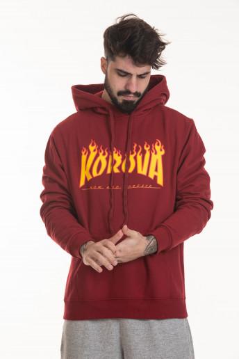 Moletom Hoodie Korova Flame Logo Carmim