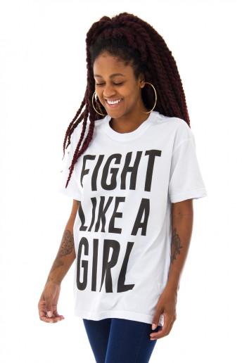 Camiseta Korova Fight Like a Girl Branca