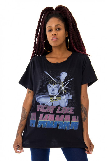 Camiseta Korova Fight Like a Woman Preta