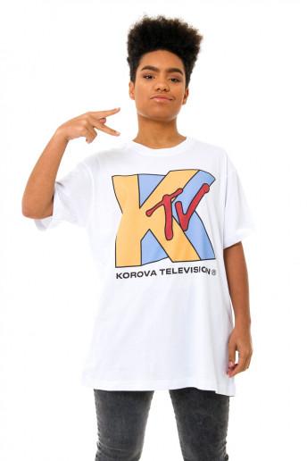 Camiseta (regular) Korova KTV Branca