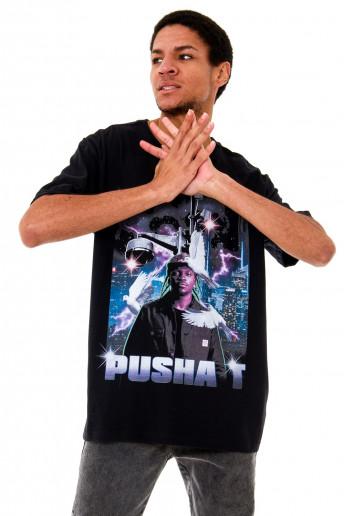 Camiseta (regular) Korova Pusha T 90s Preta