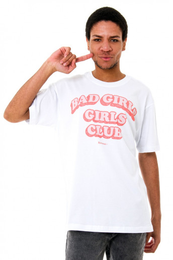 Camiseta (regular) Korova Bad Girls Club Branca