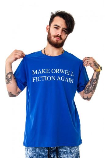 Camiseta (regular) Korova Make Orwell Fiction Again Azul