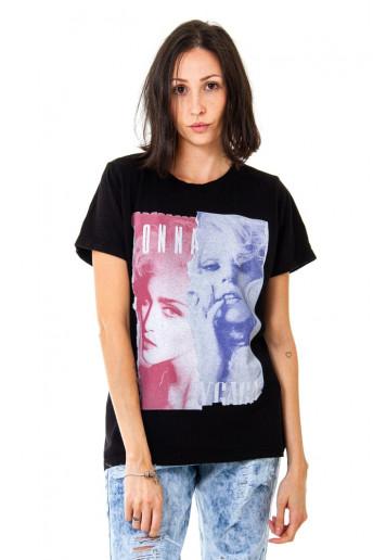 Camiseta Korova BEEFS or BFFs Madonna x Gaga Preta