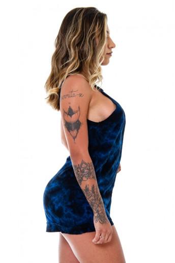 Macaquinho Jumpsuit Korova POV Azul Batik
