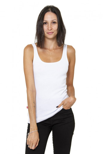 Camiseta Regata Canelada Korova Branca