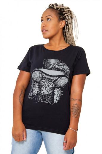 Camiseta Korova Ink Cat Preta