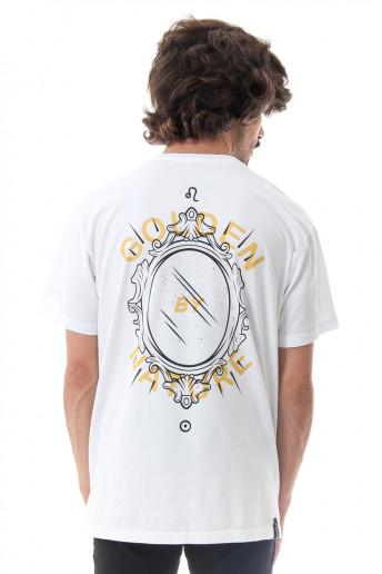 Camiseta Korova Zodiac Signo Leão Branca