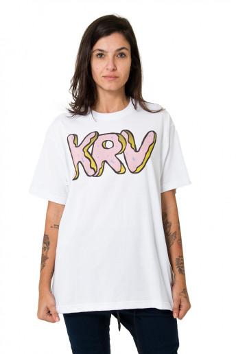 Camiseta (regular) Donuts Branca