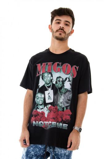 Camiseta Korova Rap 90s Migos Preta