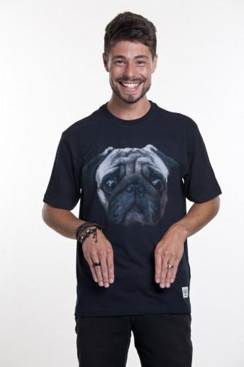 Camiseta Korova Pug Preta