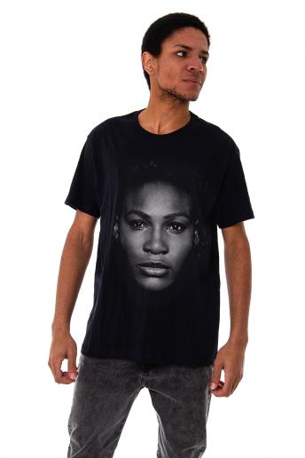 Camiseta Korova Faces Serena Williams Preta