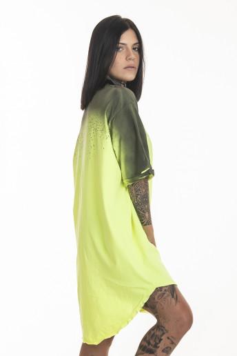Camiseta Korova Tall Tee Spray Amarelo Neon