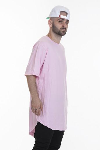 Camiseta Korova Tall Tee Rosa Claro