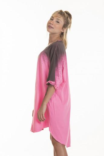 Camiseta Korova Tall Tee Spray Rosa Neon