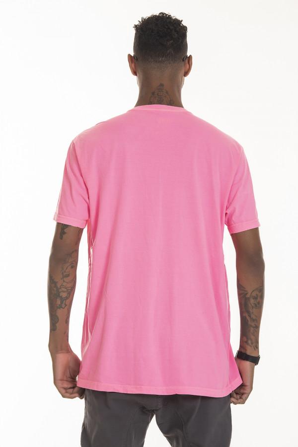 Camiseta Korova Regular Basica Neon Rosa