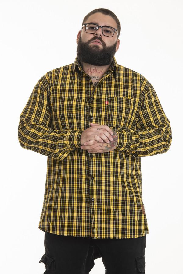 Pack de 2 Camisas Flanelas Korova Xadrez Amarelo/Cinza
