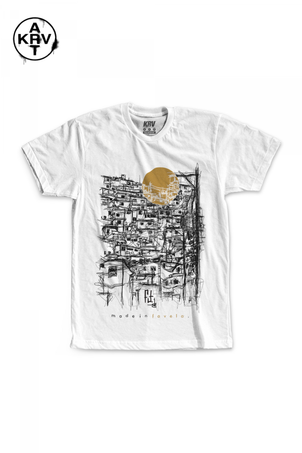 Camiseta Korova x Preto Lauffer MADE IN FAVELA