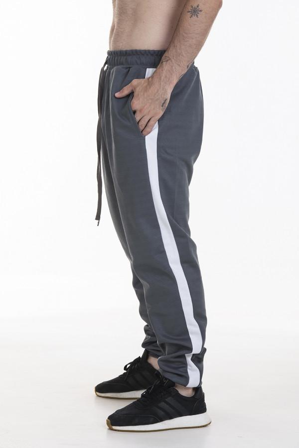 Pack 2 Calças Track Pants Side Stripe Korova Trackerz Cinza Chumbo/Bordô
