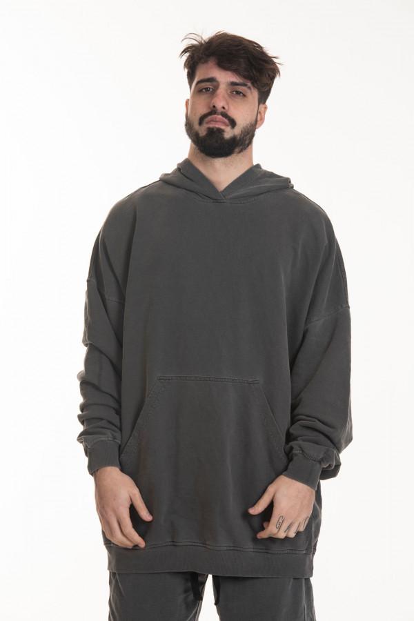 Moletom Hoodie Oversized Korova Cinza Estonado